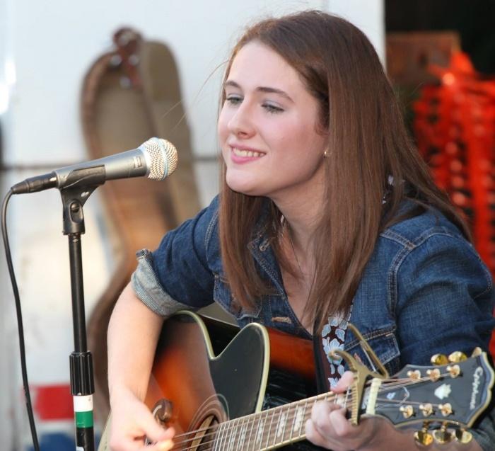 female guitar student performing in Flemington NJ